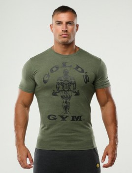 Golds Gym Muscle Joe Gym T-Shirt, Army
